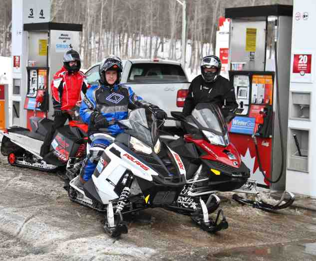 Nov. 30 - snowmobile gas station